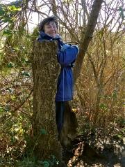 Lorna gets tree hug