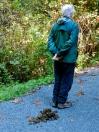 Gerhardt marks the trail