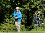 Kirsten emerges from Derby Reach trail