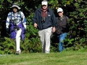 Kaye, Tom & Bill emerge from Derby Reach trail