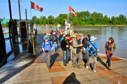 disembarking on Barnston Island (KB)