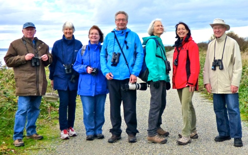 Hardy Birders at Boundary Bay Dike (RM)