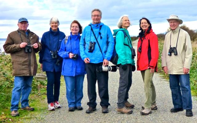 Hardy Birders at Boundary Bay Dike (RM)