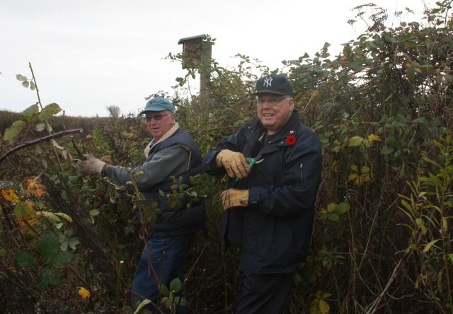 Roger & Mike battling blackberries
