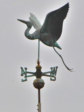 Great Blue Heron weathervane (KB)