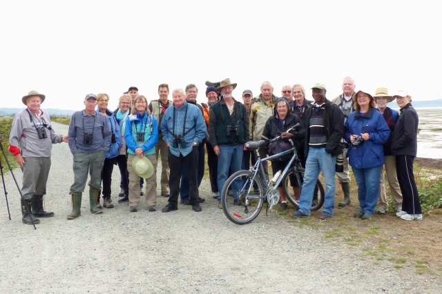 DNCB at Boundary Bay dike (photo by Marion S) - click on photo to see large version