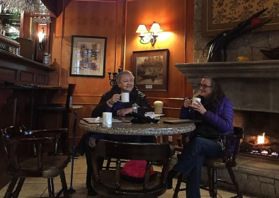 Pat & Maureen at Clubhouse Restaurant, Sandpiper GC